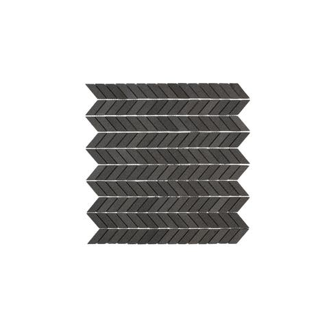 Maykke 12.25 x 11.69 - inch Holden Mosaic Wall and Floor Tile, Young Lava Stone (10 Tiles/ 9.9 sq. ft.)
