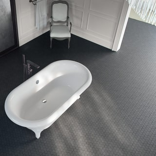Maykke 11 94 X 75 Inch Cooper Mosaic Wall And Floor Tile Young Lava Stone