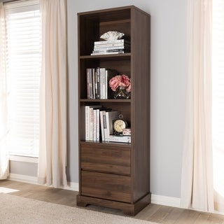 Contemporary 2-Drawer Bookcase by Baxton Studio