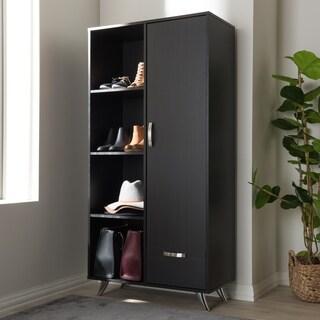 Contemporary Dark Brown Bookcase by Baxton Studio