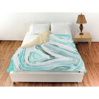 Oliver Gal 'Iced Geo Turquoise'Duvet Cover