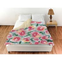 Oliver Gal 'Floral Rose Bush'Duvet Cover