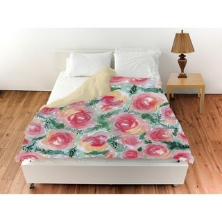 Oliver Gal 'Floral Rose Bush'Duvet Cover