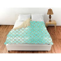 Oliver Gal 'Arabesque Turquoise and Gold'Duvet Cover