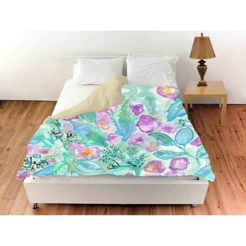 Oliver Gal 'Lavander Floral Mirage'Duvet Cover
