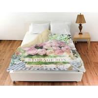 Oliver Gal 'Box of Ranunculus'Duvet Cover