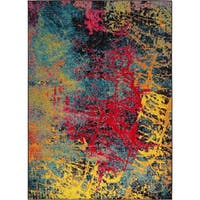 """Home Dynamix Splash Brightly Colored Abstract Scatter - 19.6"""" x 31.5"""""""