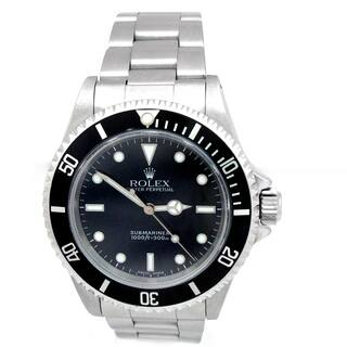Pre-owned 40mm Rolex Stainless Steel Oyster Perpetual Submariner No Date Watch with Black Dial #14060|https://ak1.ostkcdn.com/images/products/18228821/P24369087.jpg?impolicy=medium