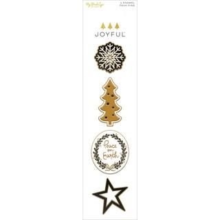 Joyful Enamel Painted Pins 4/Pkg