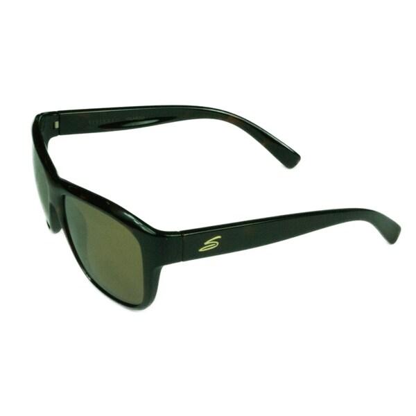 46e64df5d4 Serengeti Fashion Womens Gabriella 8433 Satin Dark Tortoise w  Polarized  Drivers Gold Mirror Lens Sunglasses