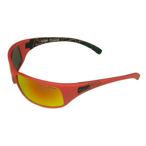 Bolle Sport Mens Recoil 12127 Matte Red w/ Polarized Fire Oleo AF Lens Sunglasses