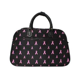 World Traveler Pink Ribbon Cancer Awareness Shoulder Duffle Bag https://ak1.ostkcdn.com/images/products/18228941/P24369226.jpg?impolicy=medium