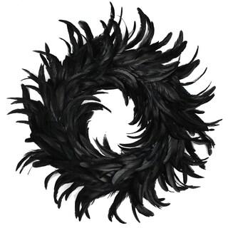"""Coctail Feather Wreath 15"""" 1/Pkg"""