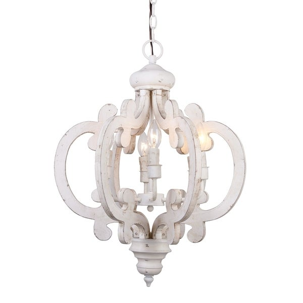 Wooden chandelier lighting Up Light Shop 6light Distressed Antique White Wooden Chandelier Free Shipping Today Overstockcom 18229090 Overstock Shop 6light Distressed Antique White Wooden Chandelier Free