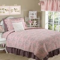 Cotton Tale Nightingale Floral Reversible 8 Piece Quilt Bedding Set