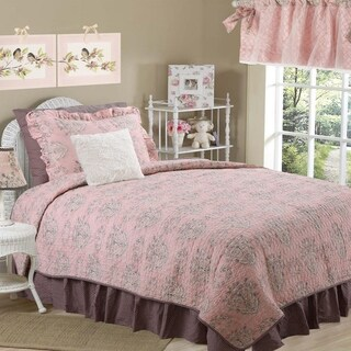 Cotton Tale Nightingale Floral Reversible 5 PC Twin Quilt Bedding Set