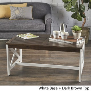 Nester Farmhouse Rectangle Wood Coffee Table by Christopher Knight Home (2 options available)