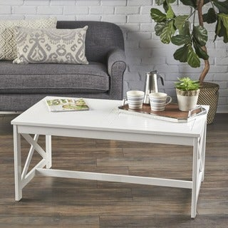 Nester Farmhouse Rectangle Wood Coffee Table by Christopher Knight Home