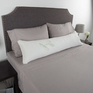 Windsor Home Rayon from Bamboo Charcoal Infused Memory Foam Body Pillow