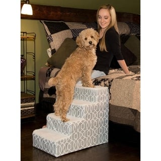 Pet Gear Designer Trellis Print IV Step Pet Stair