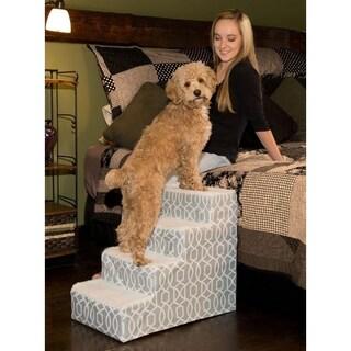 Pet Gear Designer Trellis Print IV Step Pet Stair (4 options available)