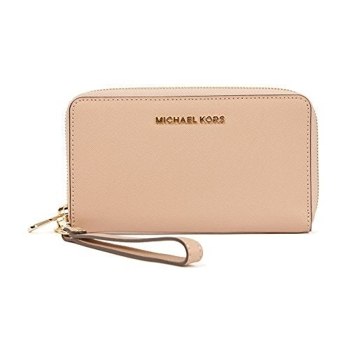 db2a37773ef6 Shop MICHAEL Michael Kors Jet Set Large Flat Multifunction Phone Case  Oyster - Free Shipping Today - Overstock - 18229654