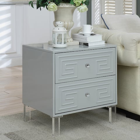 Furniture of America Zala Contemporary 2-drawer Side Table