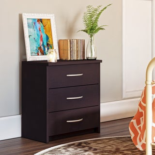 Homestar Finch Espresso 3-drawer Chest
