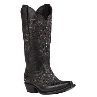 Black Star DUVAL (Black) Women's Cowboy Boots
