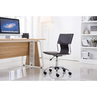Porthos Home Office Chair With Adjustable Height And Without Arm Rests