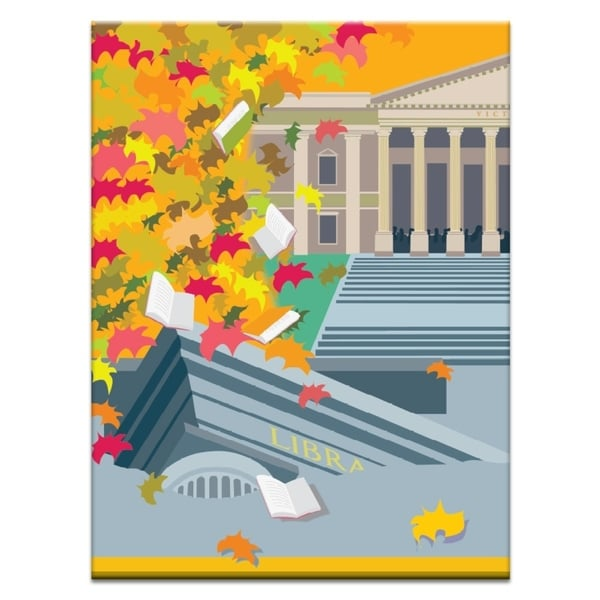 Shop Artist Lane \'Autumn Library\' by Alan Annells Canvas Print Wall ...
