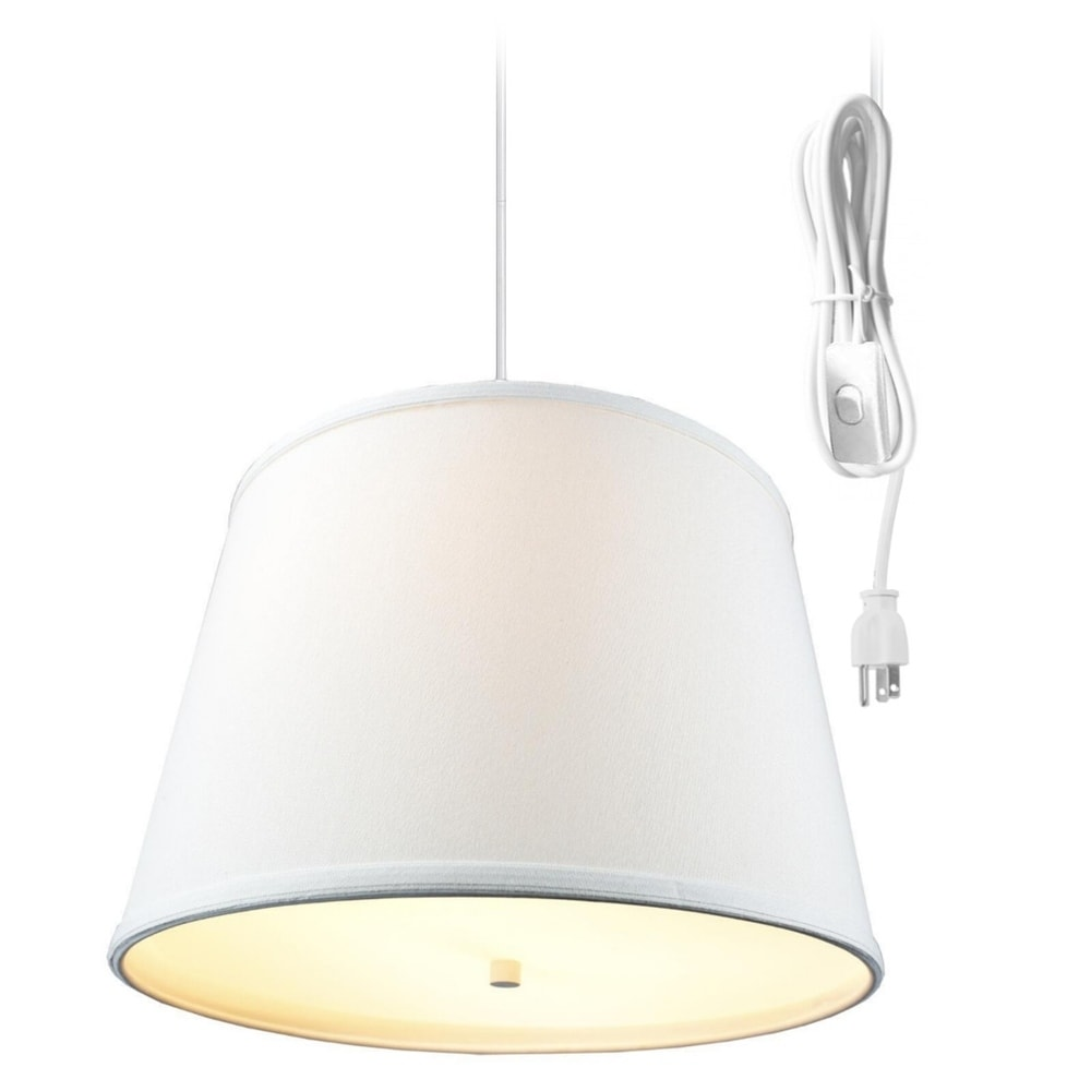 Concept Light Oatmeal 2 Light Swag Plug-In Pendant with D...