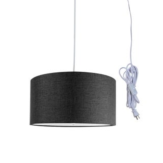 Granite Grey 2 Light Swag Plug-In Pendant with Diffuser