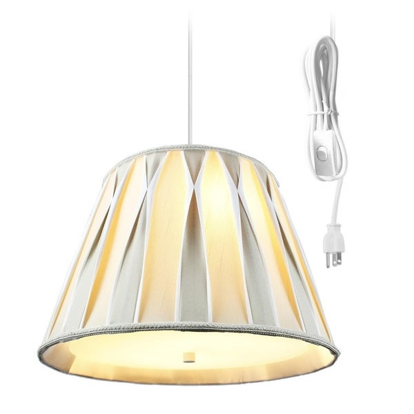 2 Light Swag Plug-In Pendant with Diffuser 10.5x16x11