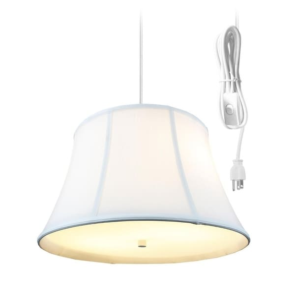 Egg Shell 2 Light Swag Plug-In Pendant with Diffuser