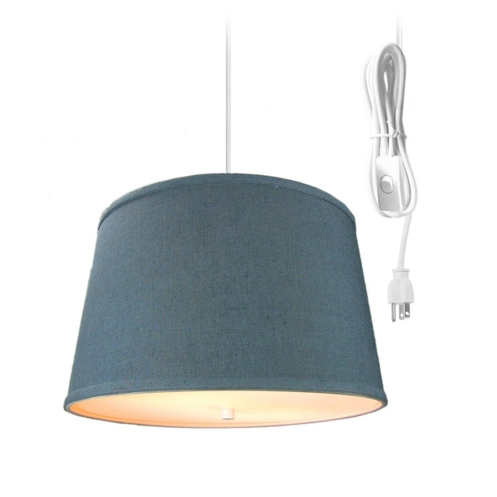 2 Light Swag Plug In Pendant With