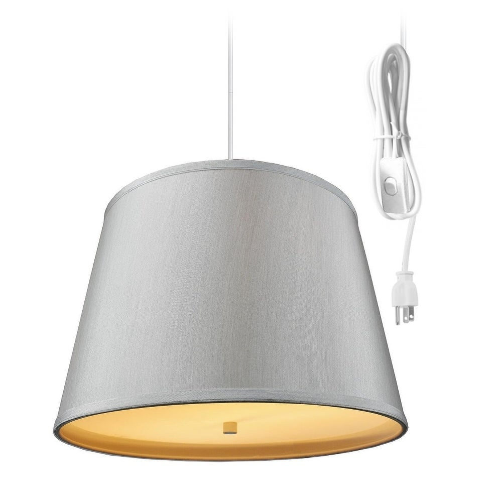 2 Light Swag Plug In Pendant With Diffuser 13x16x11