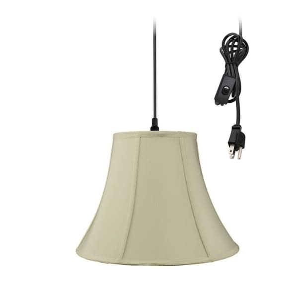 Swag Pendant Plug-In One Light Eggshell Shade