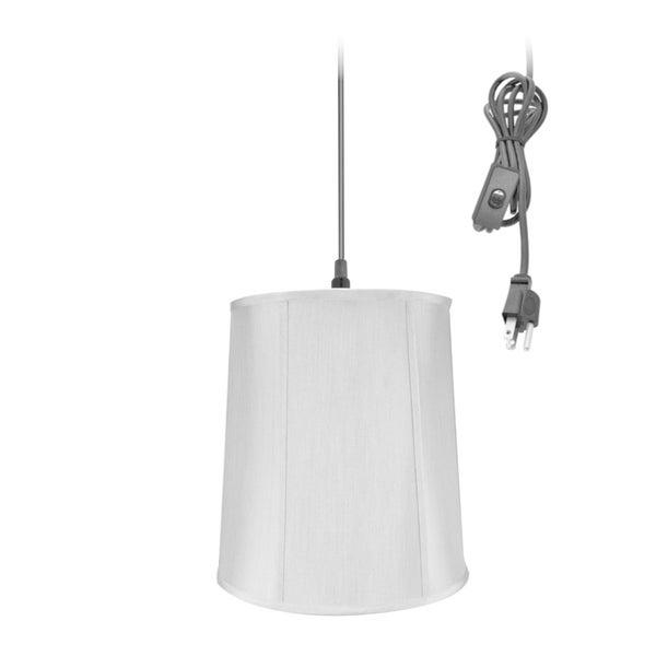 14w 1-Light Plug-In Swag Pendant Lamp Gray