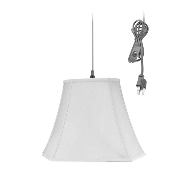 16w 1-Light Plug-In Swag Pendant Lamp Gray