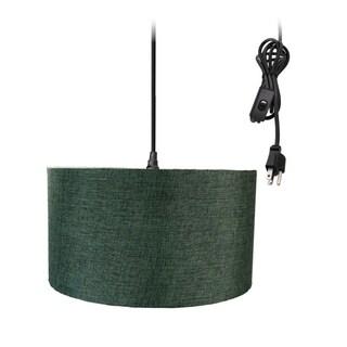 1-Light Plug In Swag Pendant Ceiling Light Granite Grey Shade