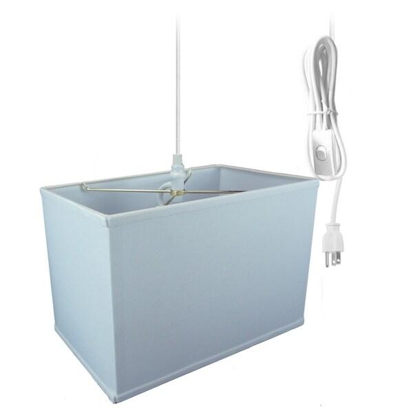 Rectangular 1 Light Swag Plug-In Pendant Hanging Lamp (10x16) (10x16) x 11 White