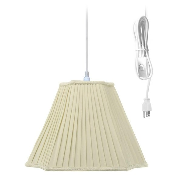 Swag Pendant Plug-In One Light Eggshell Shade