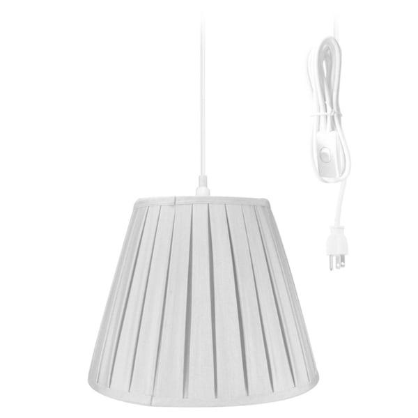 14w 1-Light Plug-In Swag Pendant Lamp Grey