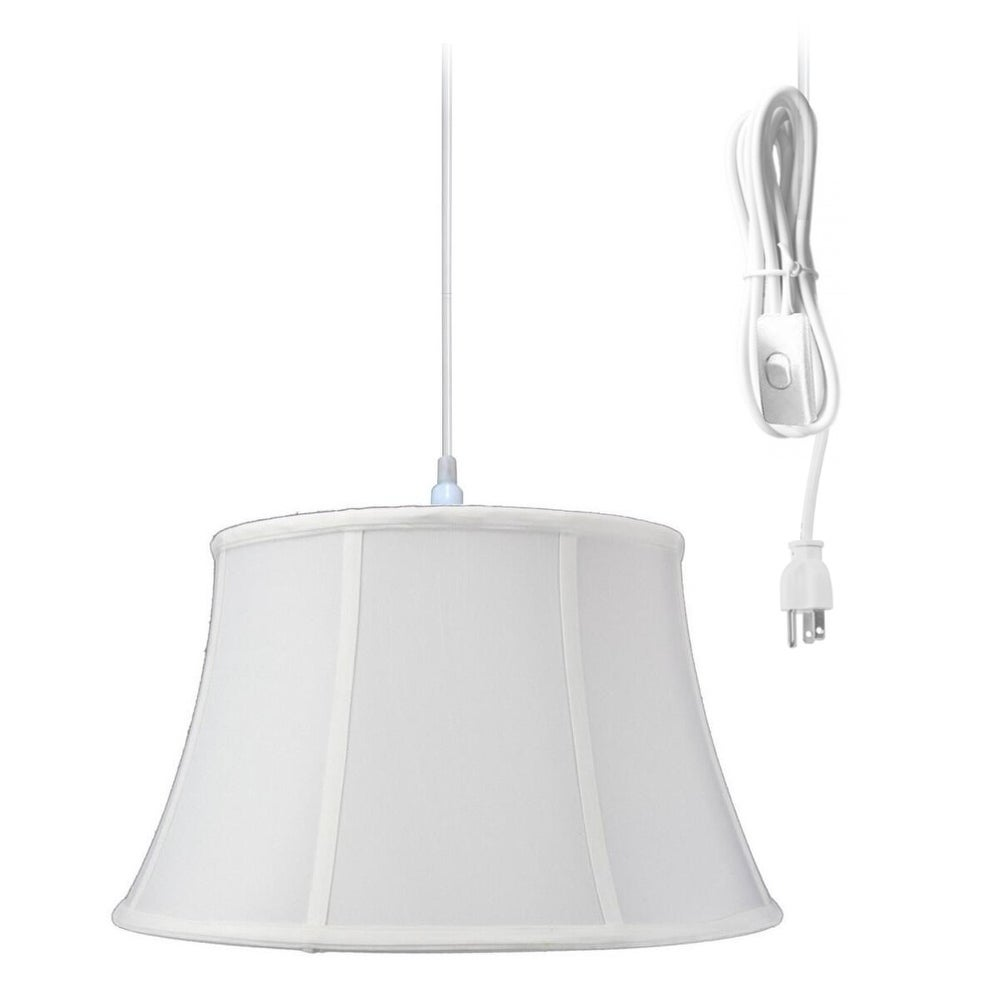 Concept 1-Light Plug In Swag Pendant Ceiling Light White ...