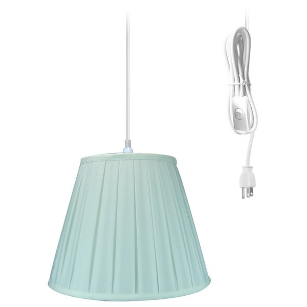 14w 1-Light Plug-In Swag Pendant Lamp White