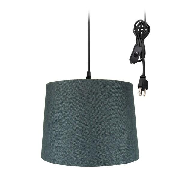14w 1-Light Plug-In Swag Pendant Lamp Granite Gray