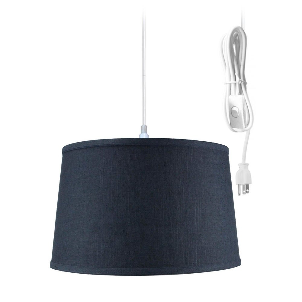 Concept Shallow Drum 1 Light Swag Plug-In Pendant Hanging...