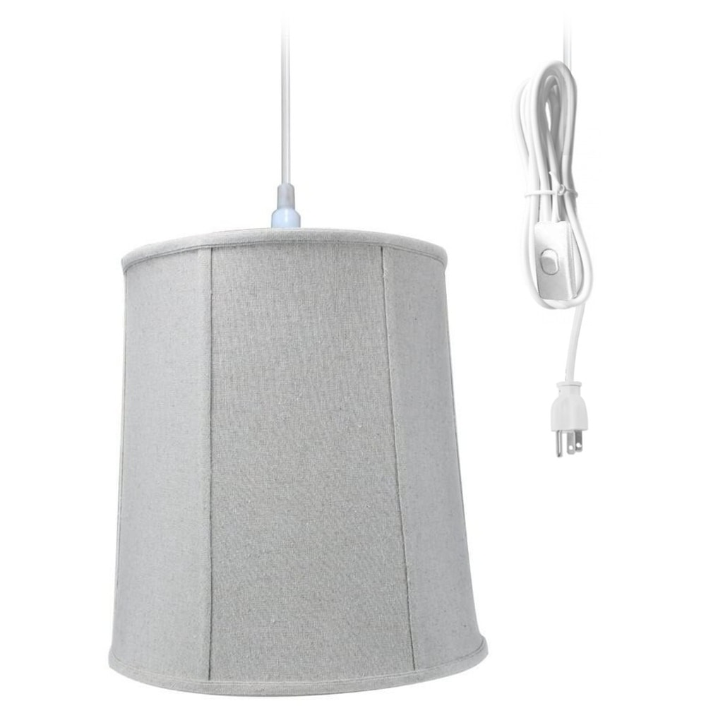 Concept 1-Light Plug In Swag Pendant Ceiling Light Sand L...