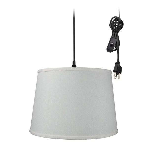 1-Light Plug In Swag Pendant Ceiling Light Light Oatmeal Shade